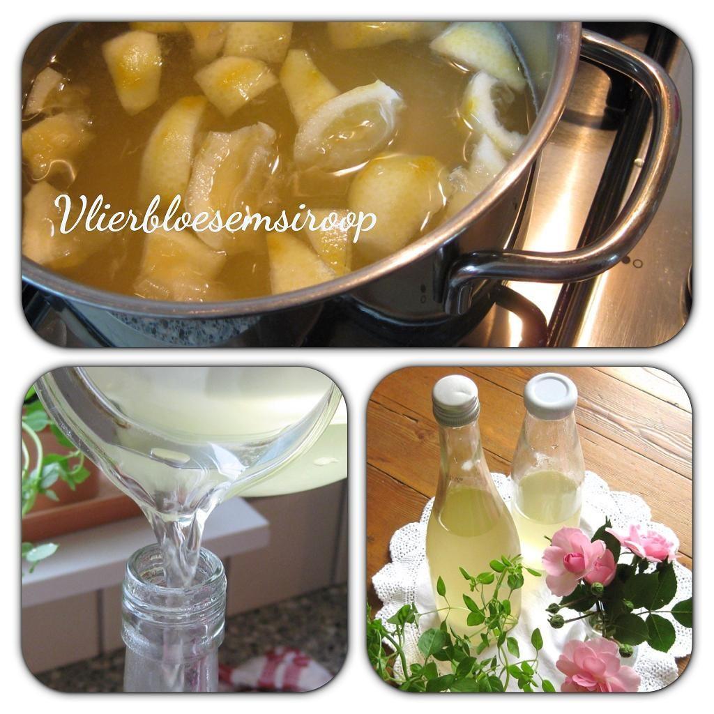 Elderberry flower syrup by helenahaakt.blogspot.com (Vlierbloesemsiroop fläderblomssaft)