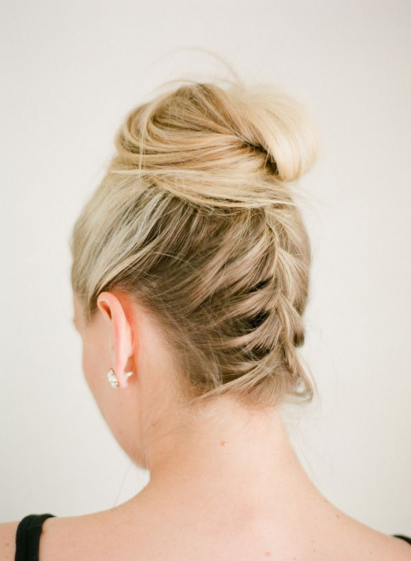 Gorgeous braided look: http://www.stylemepretty.com/living/2015/01/29/a-perfectly-chic-braided-bun/