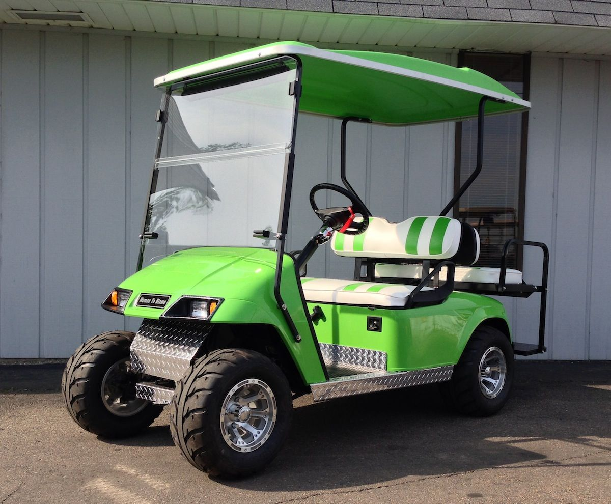 One of the awesome custom golf car projects that we built for a ...