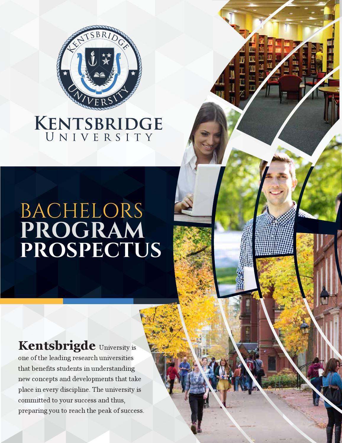 official kentsbridge university bachelor program brochure idea