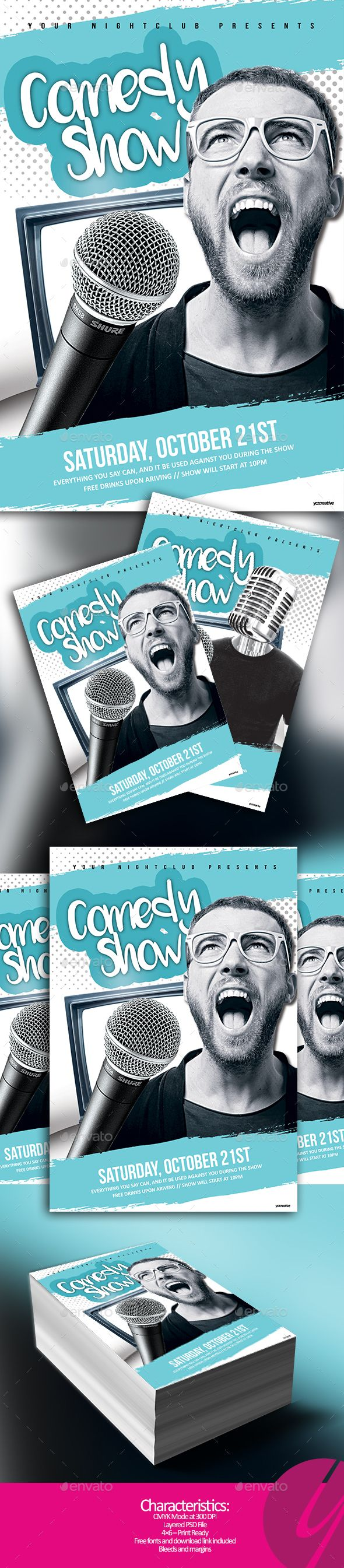 Comedy Show Night  Psd Templates Template And Event Flyers