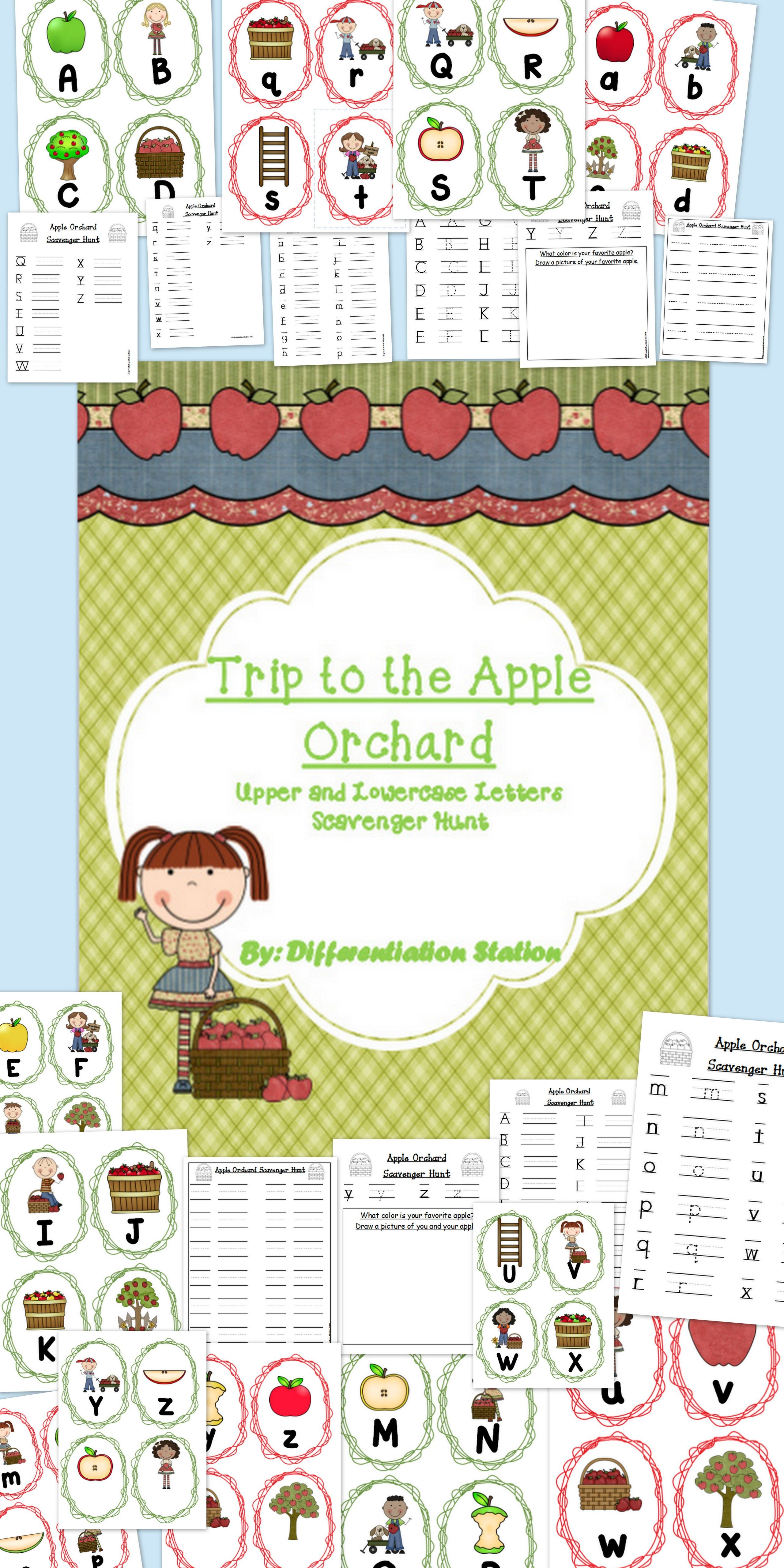 Apple Orchard Scavenger Hunt Upper And Lowercase Letters Common Core