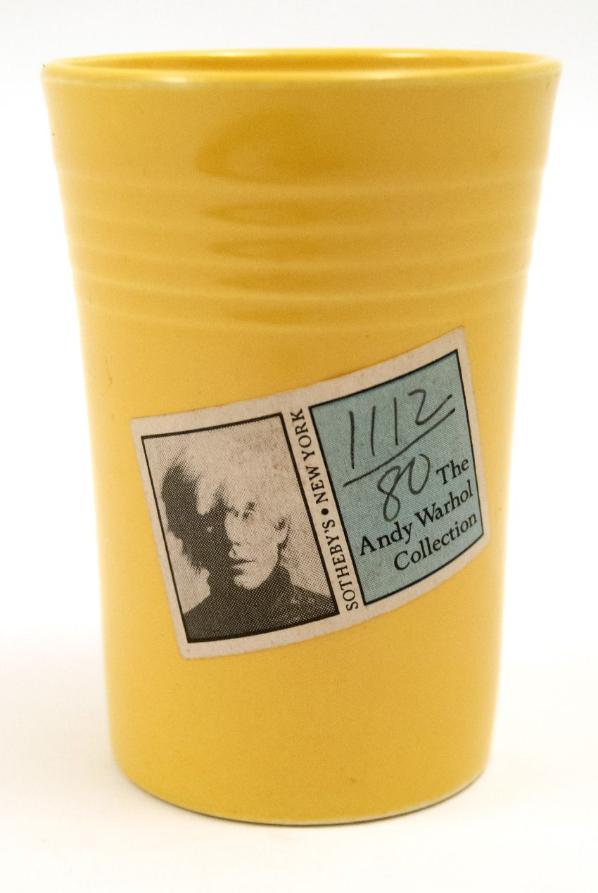 andy warhol fiestaware juice tumbler from sotheby sale new york warhols fiesta pottery collection - Fiestaware Sale