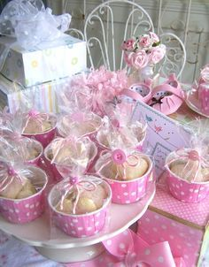 Cute Baby Shower First Birthday Party Favors Pink For Girls Or Blue Boys