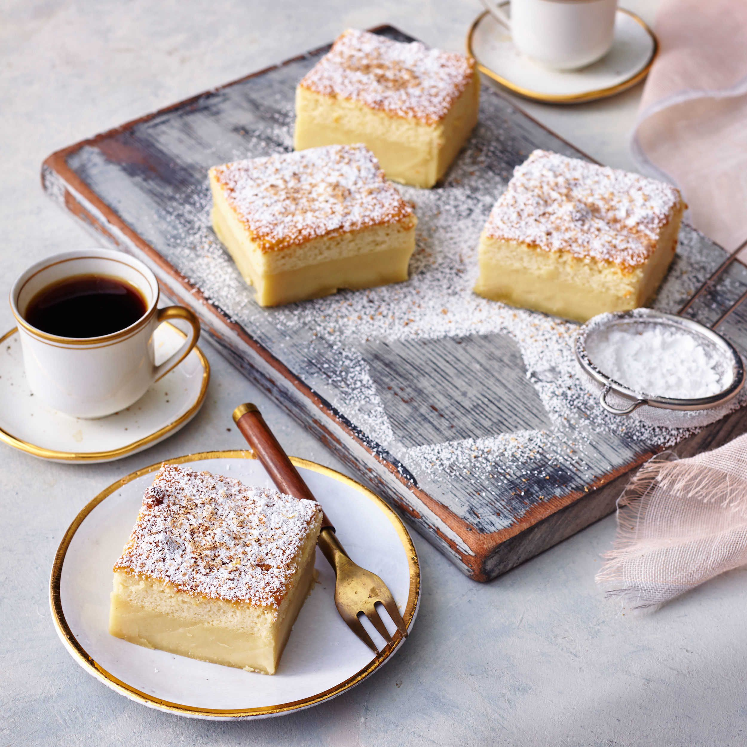 Creamy custard cake recipe