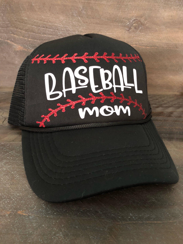 e8be1c020 Baseball Mom Trucker Hat. Baseball Cap. Baseball Mom Hat. Little ...