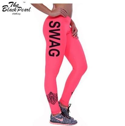 60afa07f51 Women's SWAG Letter Printed Fitness Leggings in 2019 | Products ...