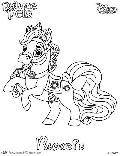 Free Coloring Page Featuring Blondie From Disney S Princess Palace Pets Disney Princess Palace Pets Disney Coloring Pages Princess Palace Pets