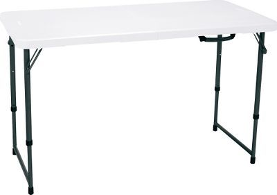 Adjustable height folding camp table from Cabela's. Dave wants something like this!