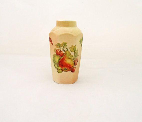 Vintage Royal Worcester Palissy Fruit Collection Small Vase Uk