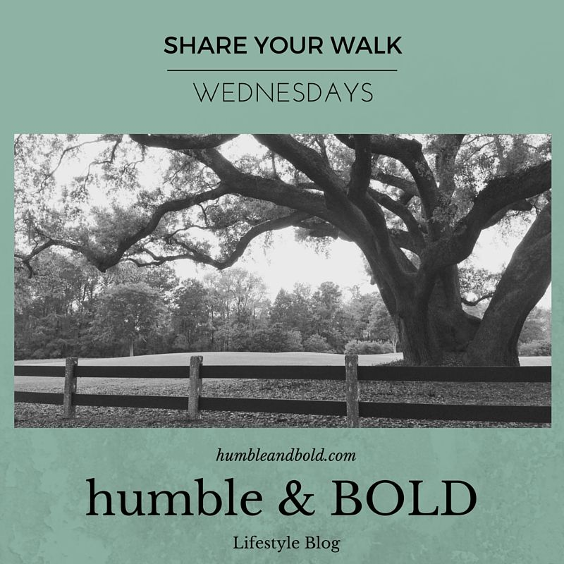 Read testimonies over at Share Your Walk Wednesdays via www.humbleandbold.com
