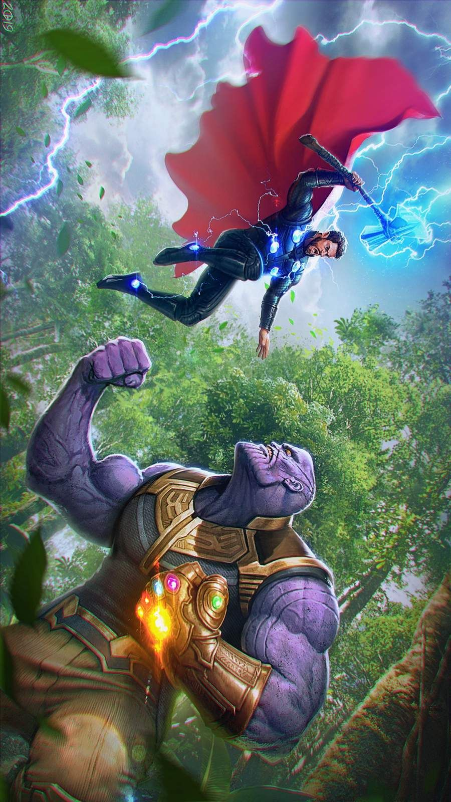 Thor Vs Thanos Iphone Wallpaper Iphone Wallpapers