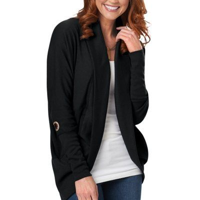 Washington Redskins Ladies Circular Cardigan - Black
