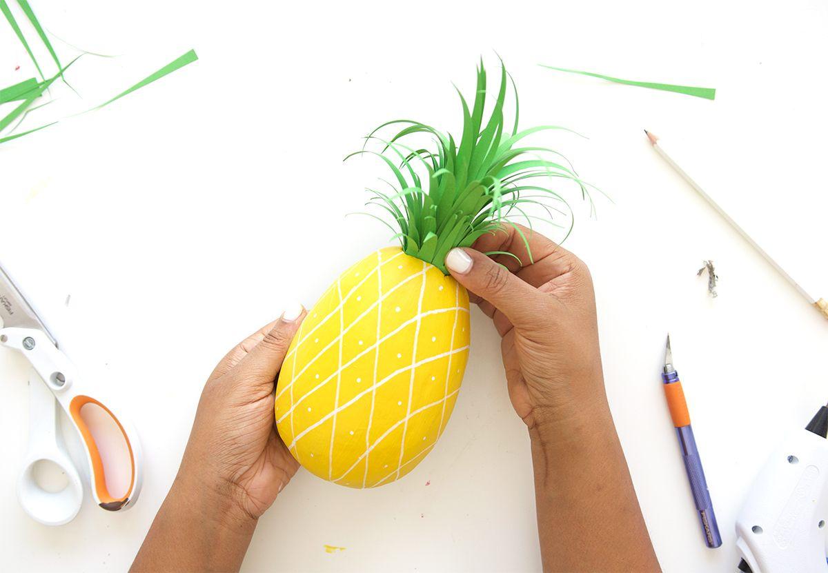 DIY Paper Mache Pineapple Wall Art | Diy paper, Paper mache and Damasks