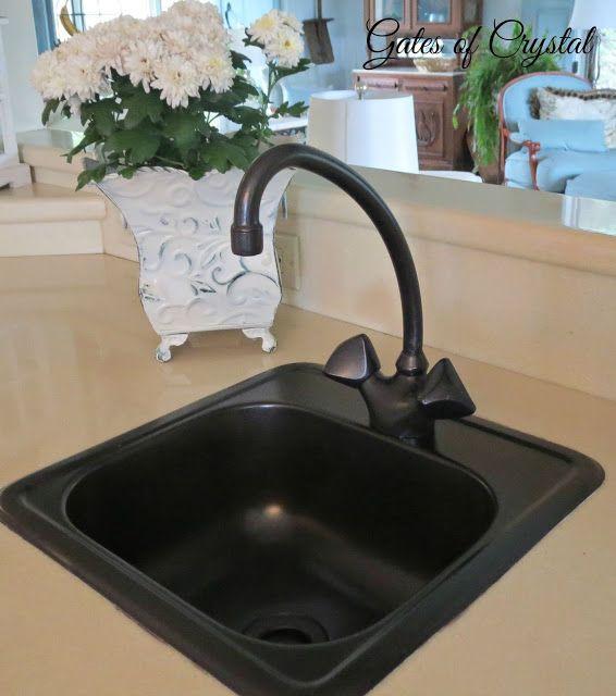 Spray Painting A Brass Sink Brass Sink Painting A Sink Wet Bar