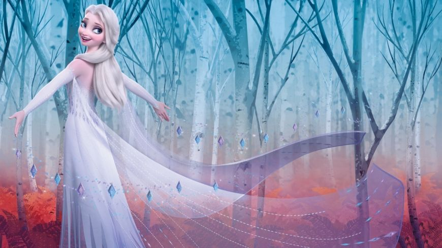 Frozen 2 Hd Wallpaper Elsa Snow Queen In Enchanted Forest Frozen Pictures Elsa Images Frozen Wallpaper