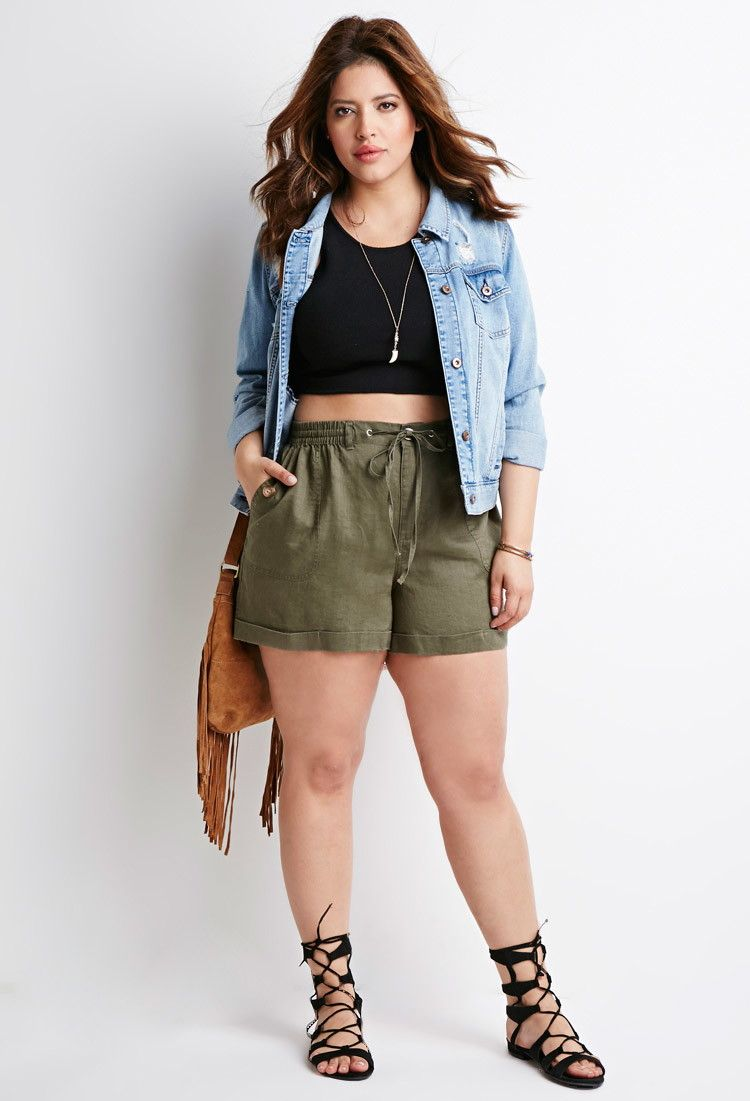 Drawstring Cuffed Shorts | Forever 21 PLUS - 2000095681