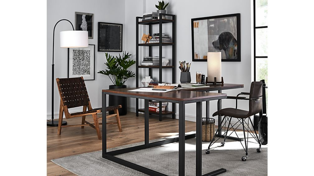 Crate and Barrel Pilsen Graphite Desk chair not included