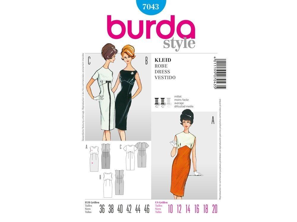Schnittmuster Vintage Kleid, Burda 7043 | ✪ VINTAGE NÄHIDEEN ...