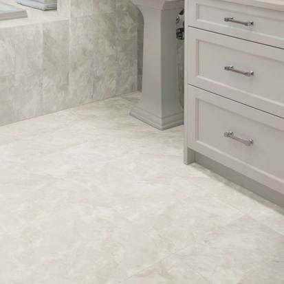 Check Out This American Olean Product Photo Features Mirasol Silver Marble In 10 X 14 On The Tub And Wall Wi White Porcelain Tile Marble Porcelain Tile Tiles