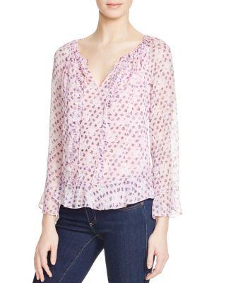 DIANE VON FURSTENBERG Simonia Floral Silk Peasant Blouse. #dianevonfurstenberg #cloth #blouse