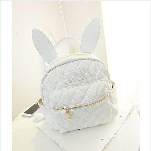 cbc4d4fbe69c BUNNY EARS backpack wonderland rabbit pastel cute kawaii harajuku small bag  new
