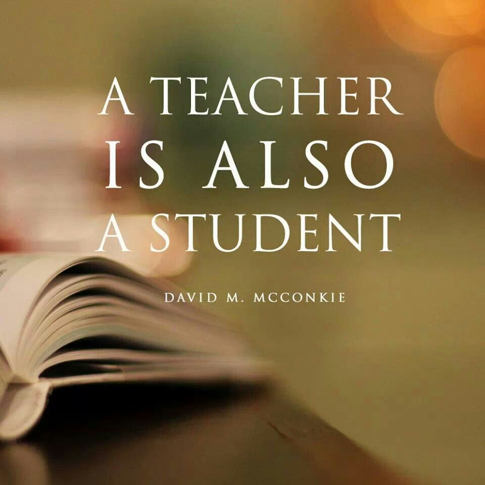 A Teacher Is Also A Student