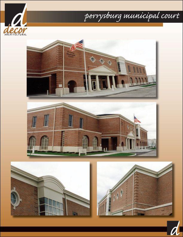 Perrysburg municipal court | exterior cornice | Roof architecture