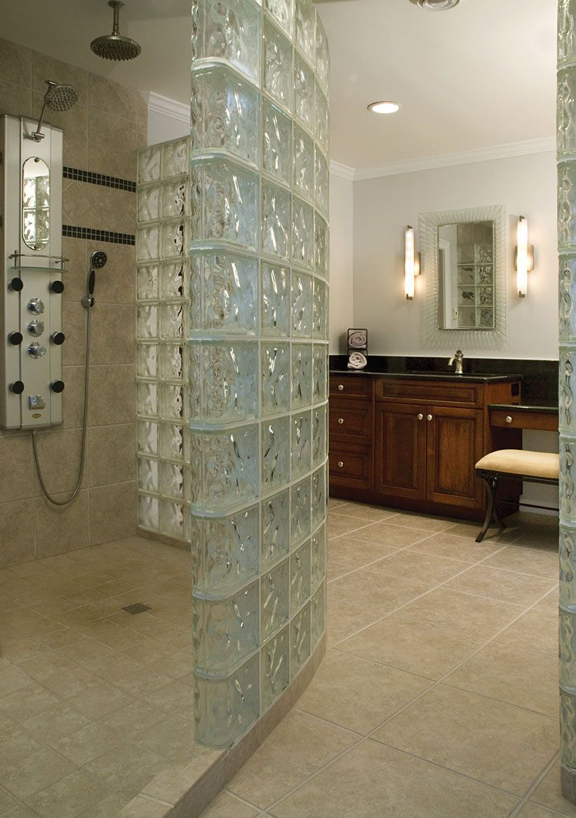 glass block walls in bathrooms bathroom with glass block wall - Bathroom Designs Using Glass Blocks