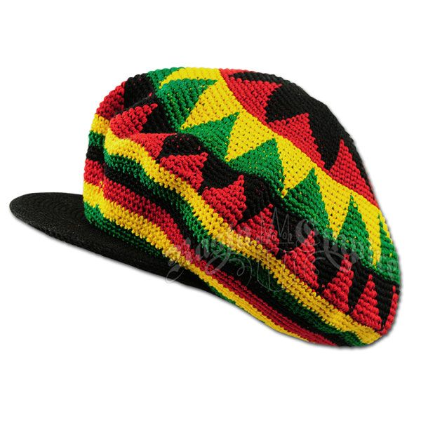 Rasta Dreadie Crochet Applejack Hat - Oversized | Mütze ...