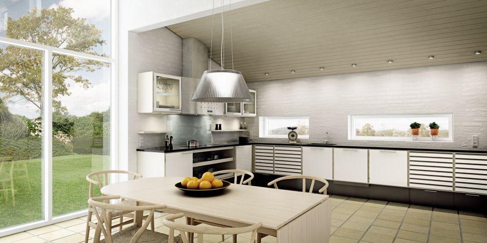 Køkken med lysindfald