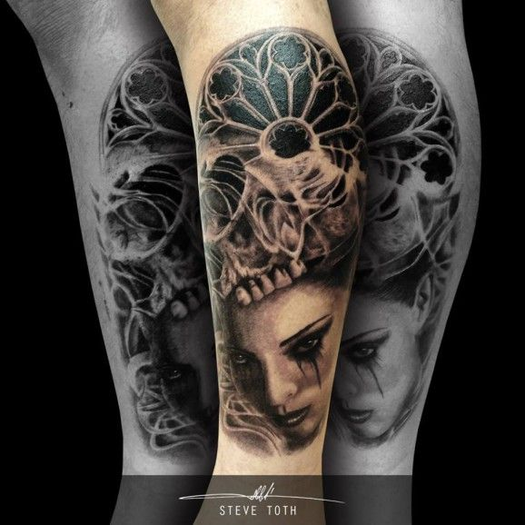 Gothic Tattoos That Take After Medieval Art And Architecture
