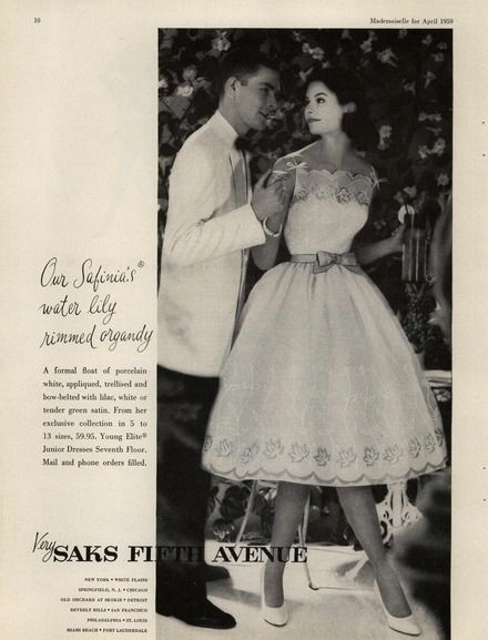 Saks Fifth Avenue  Ad Campaign Spring/Summer 1959