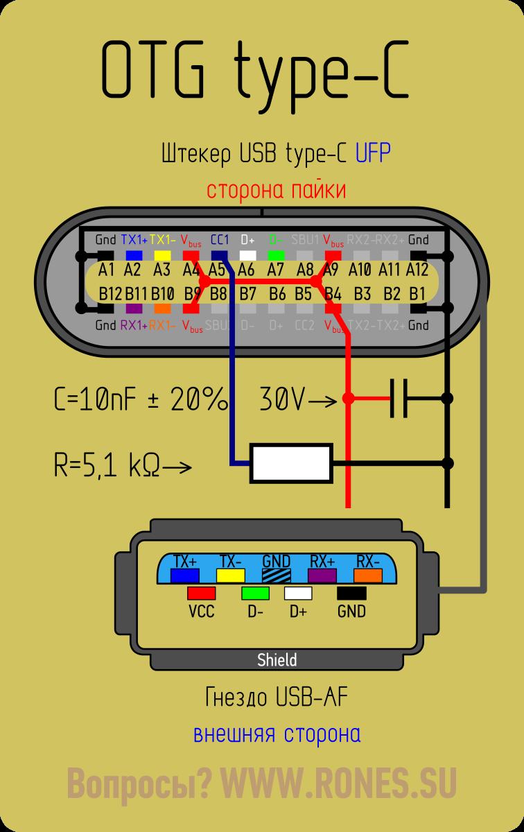 USB 3.1 TypeC. Коротко и ясно Электронная схема