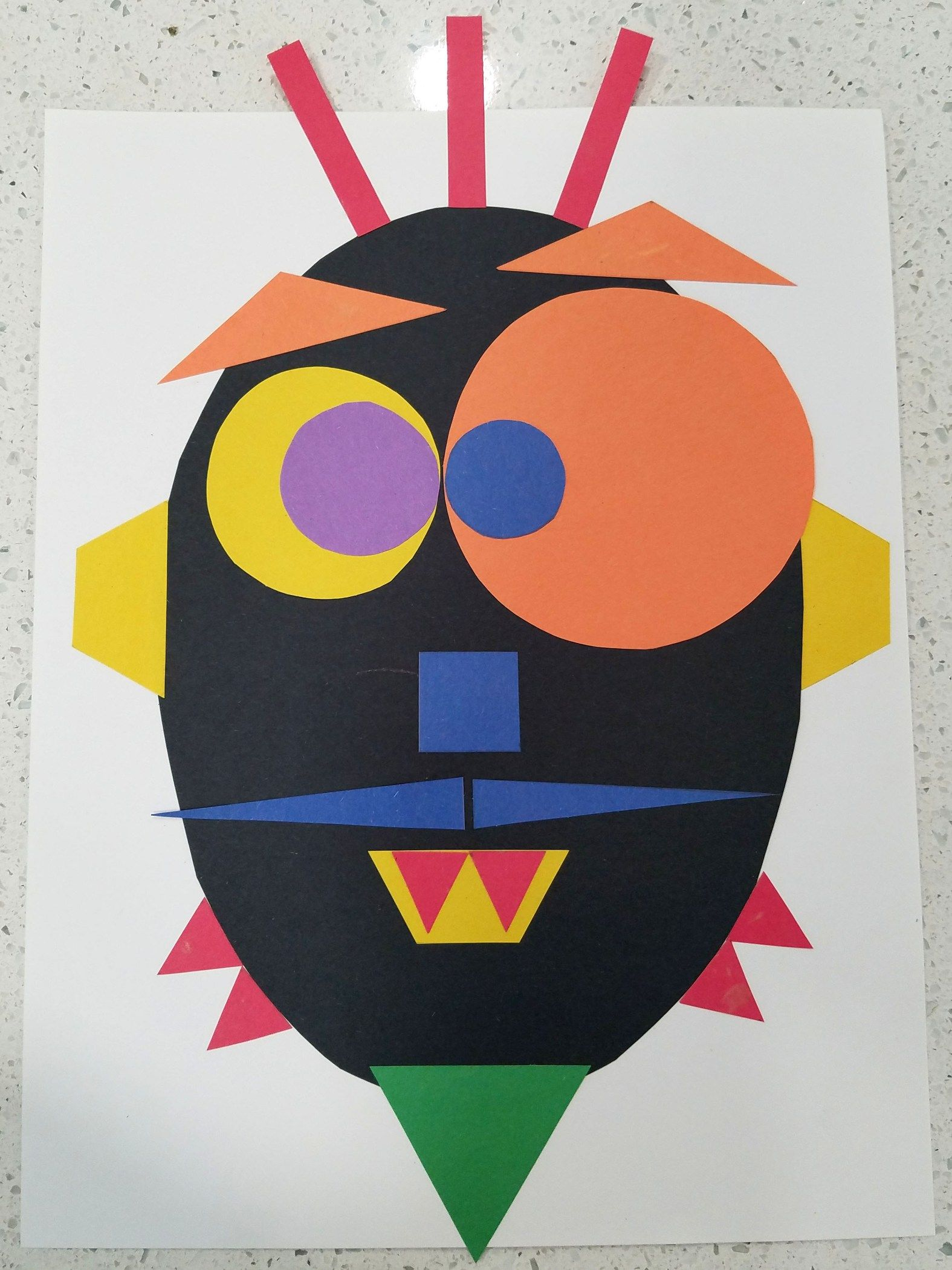 Silly Shape Monster Preschool Craft