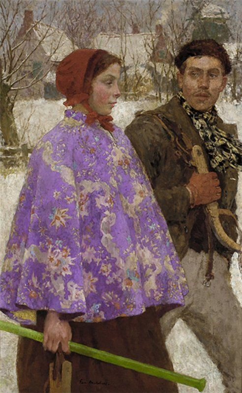 Skaters Gari Melchers (1860-1932) ca. 1892 Oil on canvas