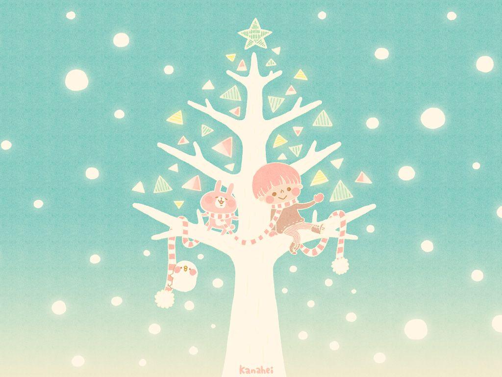 雪とツリーとぼくたち1 カナヘイの家 カナヘイ イラスト