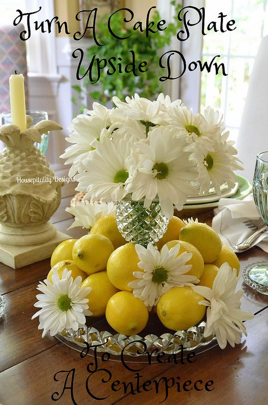 Inverted Cake Plate As A Vase And Base How Clever A