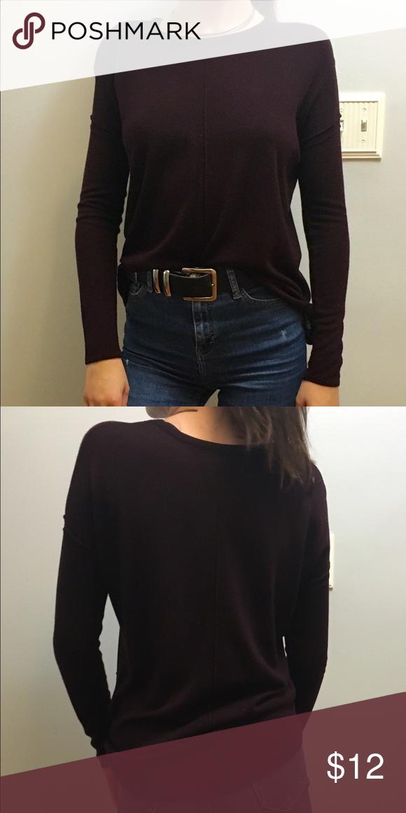 Dark Maroon Sweater Dark maroon sweater with seam details down ...