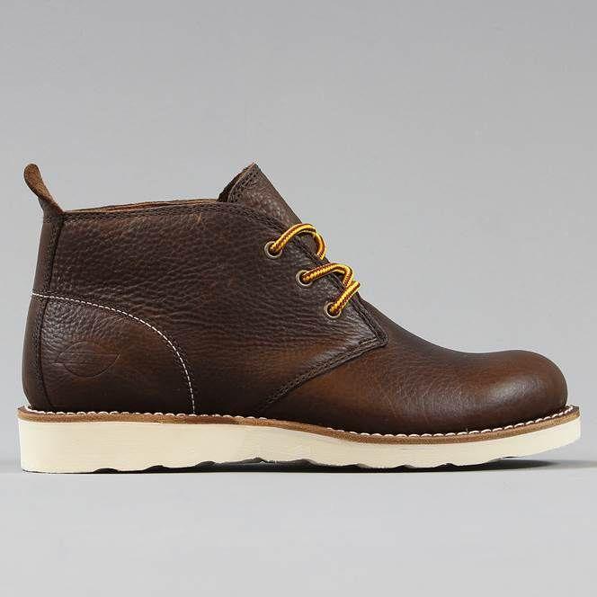 newest e3451 b7143 Dickies Nebraska Boot Leather Tumble Dark Brown