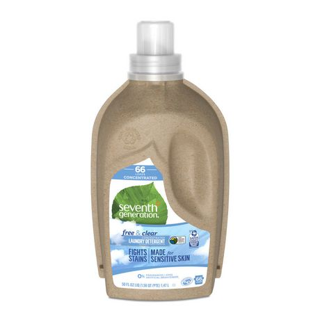 Seventh Generation Concentrated Liquid Laundry Detergent Free And
