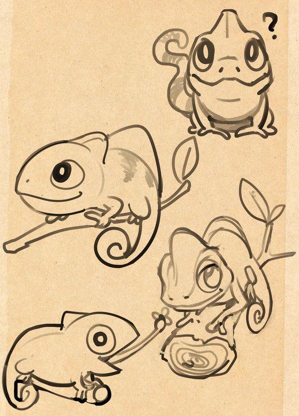 bed730b1a Chameleon sketch by kukon.deviantart.com | Animals 1: All Types ...