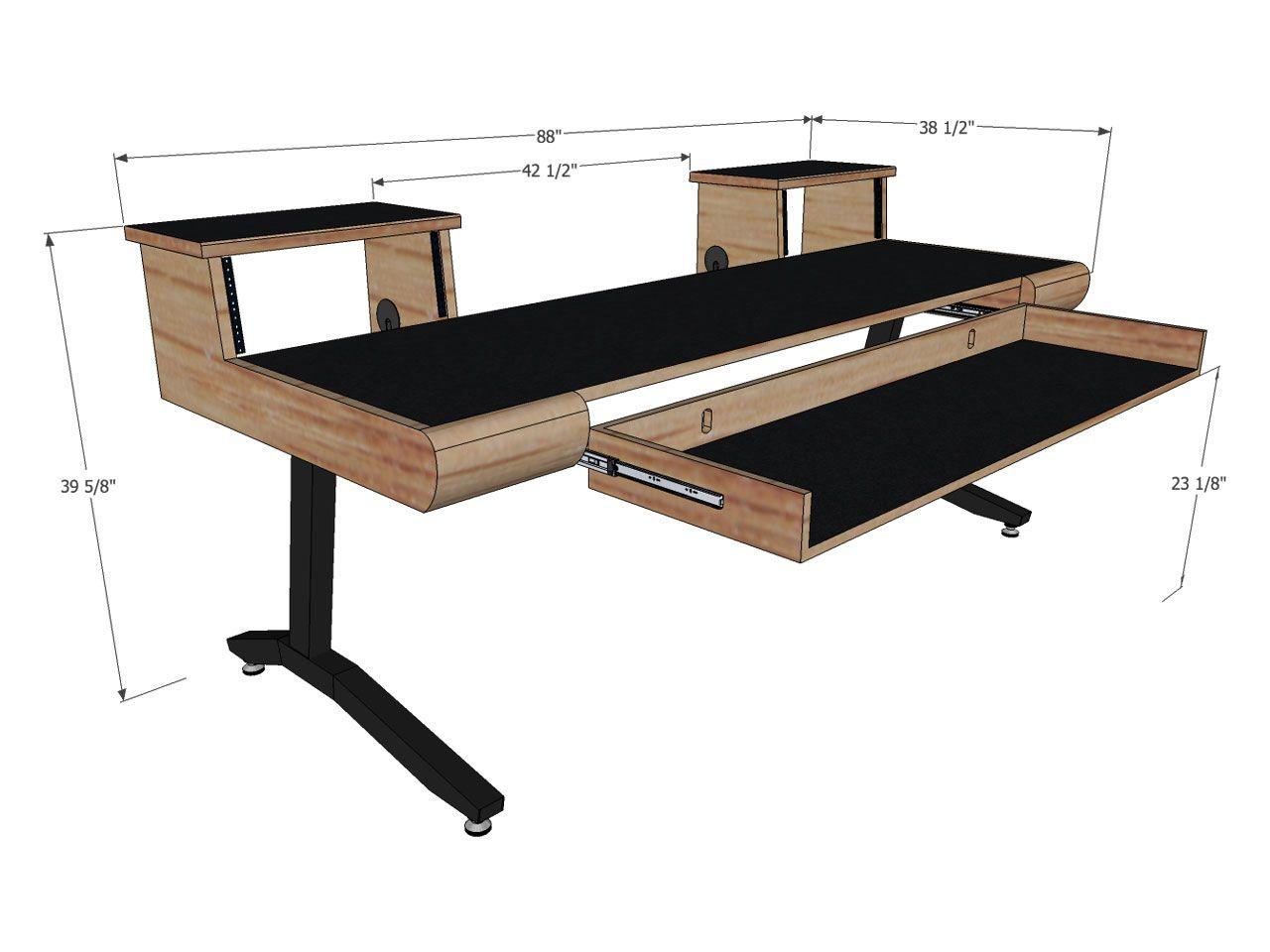 scs keyboard desks 88 key in 2019 home office home studio music studio desk recording. Black Bedroom Furniture Sets. Home Design Ideas