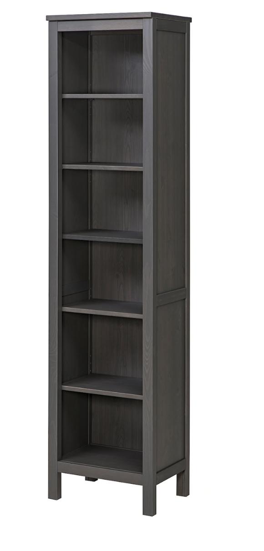 """HEMNES Bookcase   dark gray stained 19 1/4x77 1/2 """"   Grey ..."""