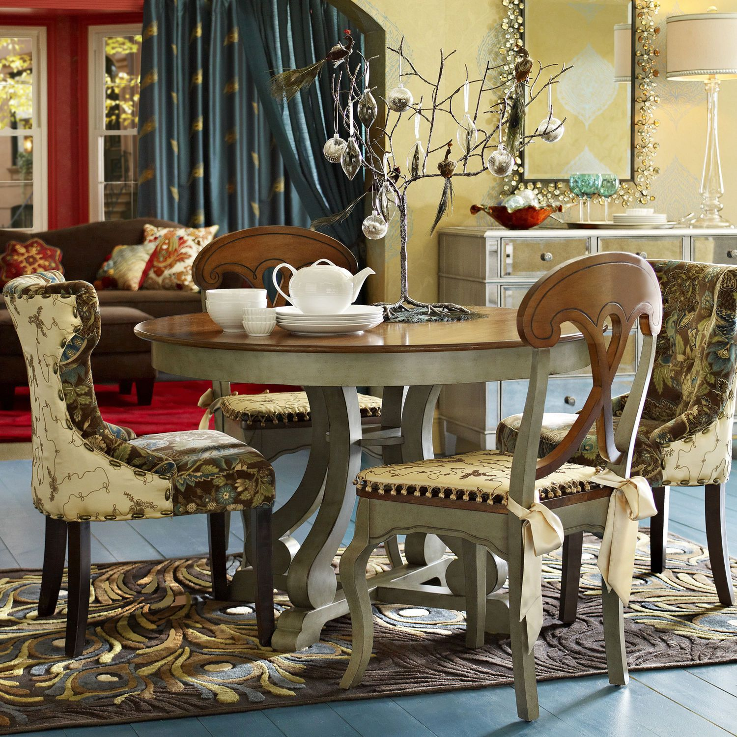 Marchella Sage Round Dining Table | Dining chairs, Kitchens and ...