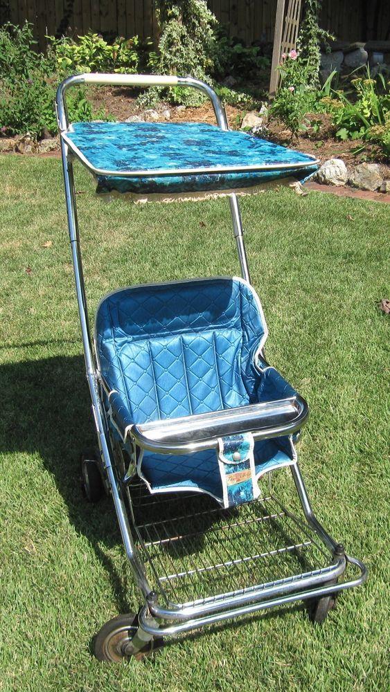 Vintage Taylor Tot Baby Stroller Pram Retro Turquoise