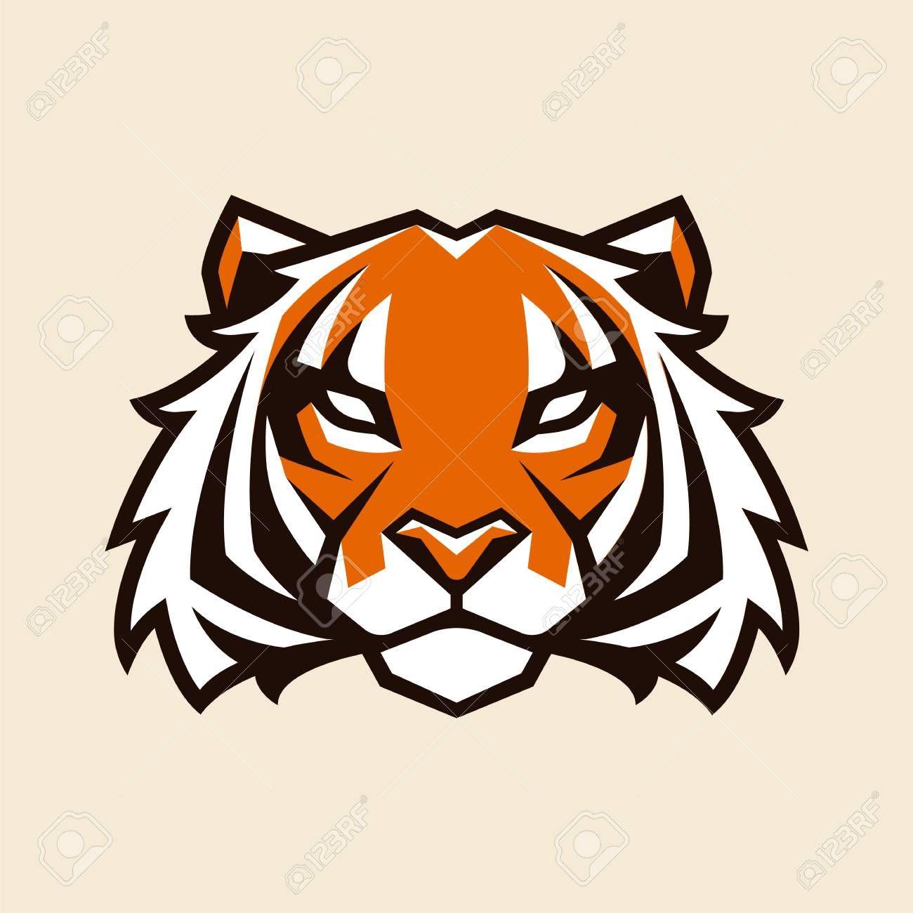 Tiger Looking Danger Tiger Head Icon Tiger Vector Logo Template Illustration Sponsored Head Icon Tiger Danger Te Vector Art Tiger Vector Vector