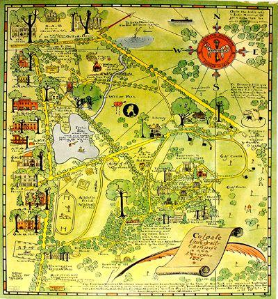 Rochester Campus Map.Arthur B Suchy Fl 1920 1940 After Colgate University Campus