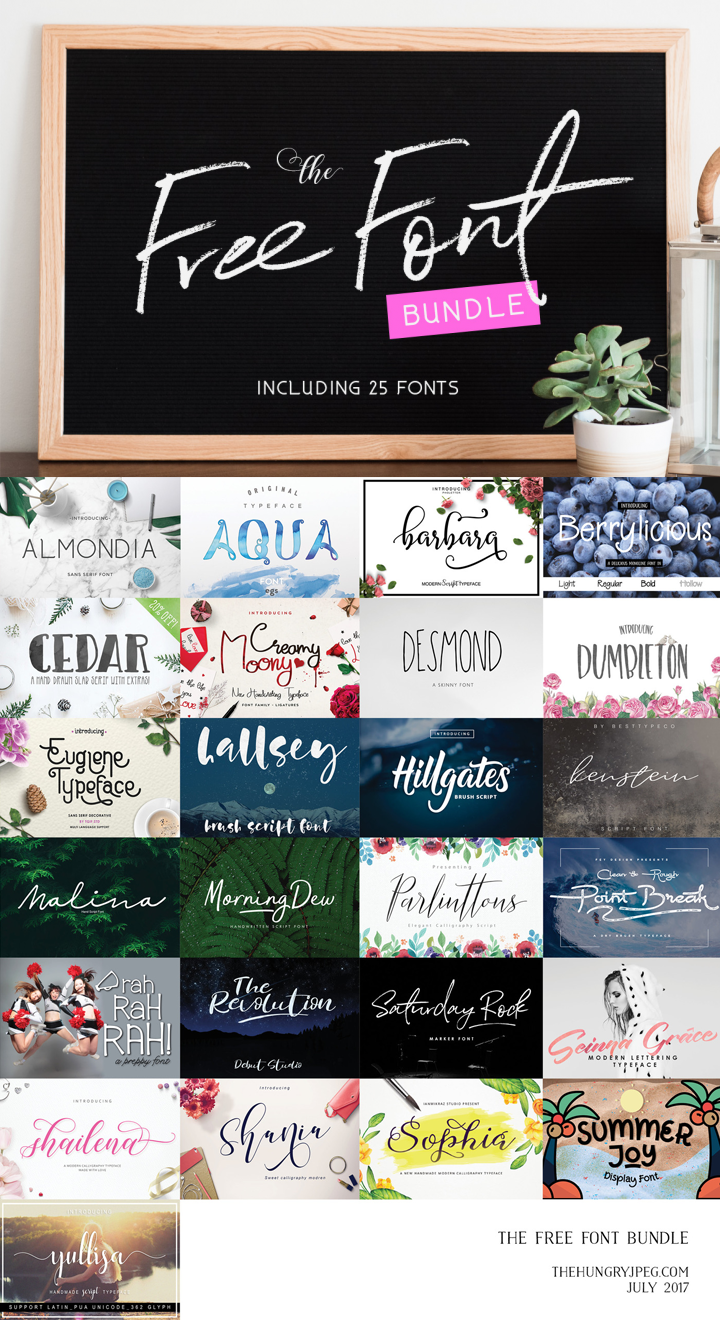 Download The 25 Free Font Bundle - IS HERE !!! EXPIRED (With images ...