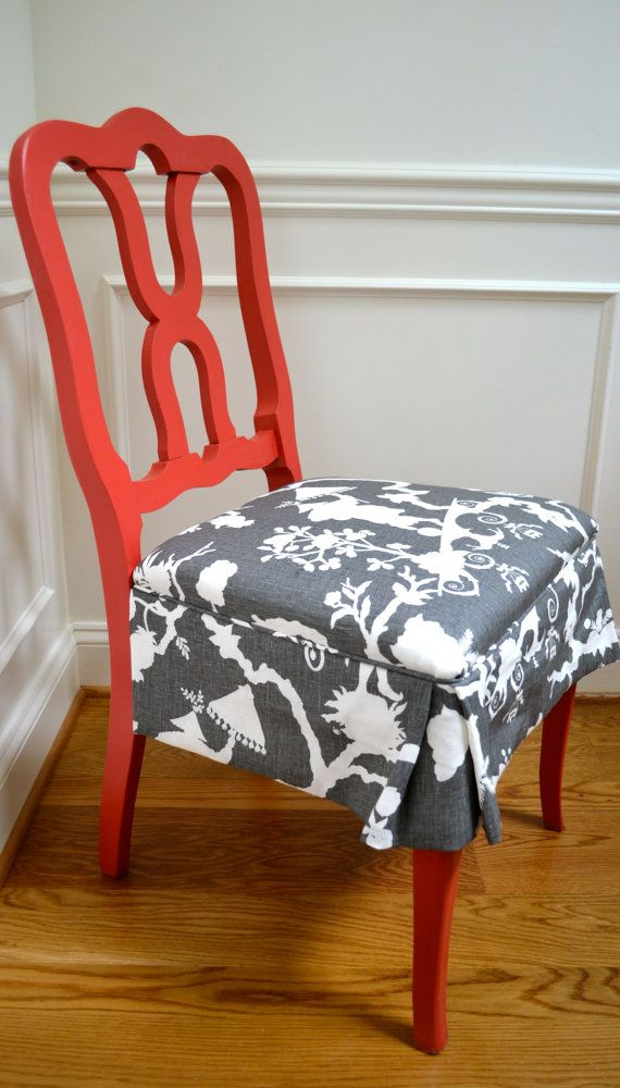 Dining Room Chairs  Refurbished  Pinterest  Kitchens Room And Adorable Fabric Chair Covers For Dining Room Chairs 2018